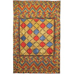 Hand Embroidered Phulkari with Silk Stitches from West India, circa 1900