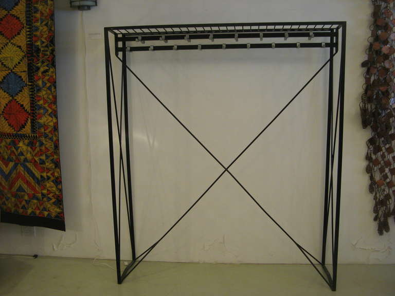 Austrian Mid-Century Modern Coat Rack by Roland Rainer, circa 1956 In Good Condition For Sale In New York, NY