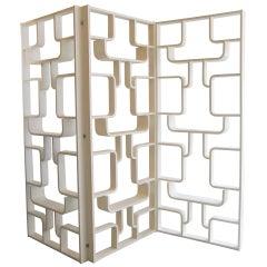 Three Mid-Century Panel Screens, Room Dividers, Bookcases by Drevopodnik Holesav