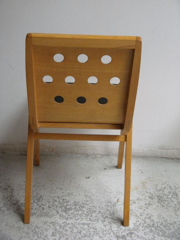Austrian Beechwood and Bent Plywood Stacking Chairs Roland Rainer, circa 1956 6
