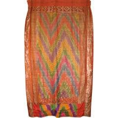 Indian Patchwork of Saris in Silk, circa 1930