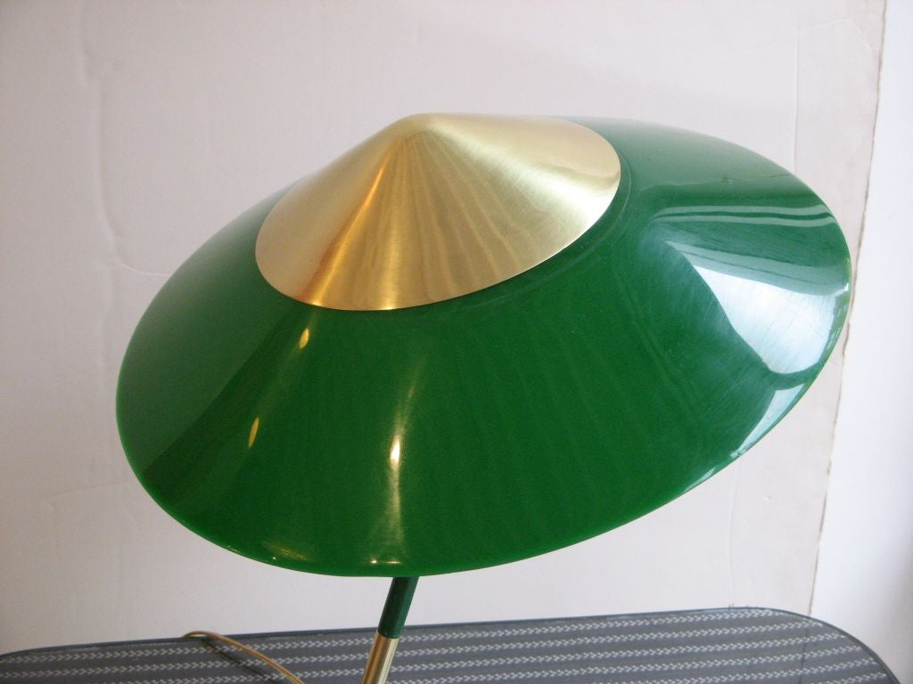 stilnovo table lamp with green shade at 1stdibs. Black Bedroom Furniture Sets. Home Design Ideas