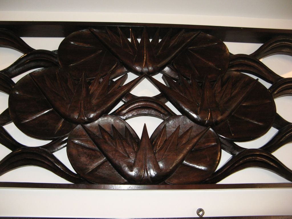 French decorative art deco panels in carved wood at 1stdibs - Carved wood wall art panels ...
