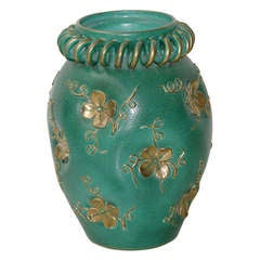 Grand Scale Italian Decorative Ceramic Vase by Deruto, circa 1930