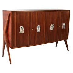 Osvaldo Borsani Attributed Unique Sideboard, Handles by Quattrini, circa 1950