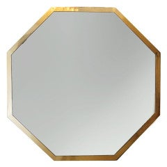 Large octagonal 6 foot mirror by Maison Jansen