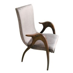 Sculptural armchair by Malatesta & Masson