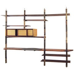 Rare Shelving Unit Studio Piece by Paul Evans & Phillip Lloyd Powell, circa 1960