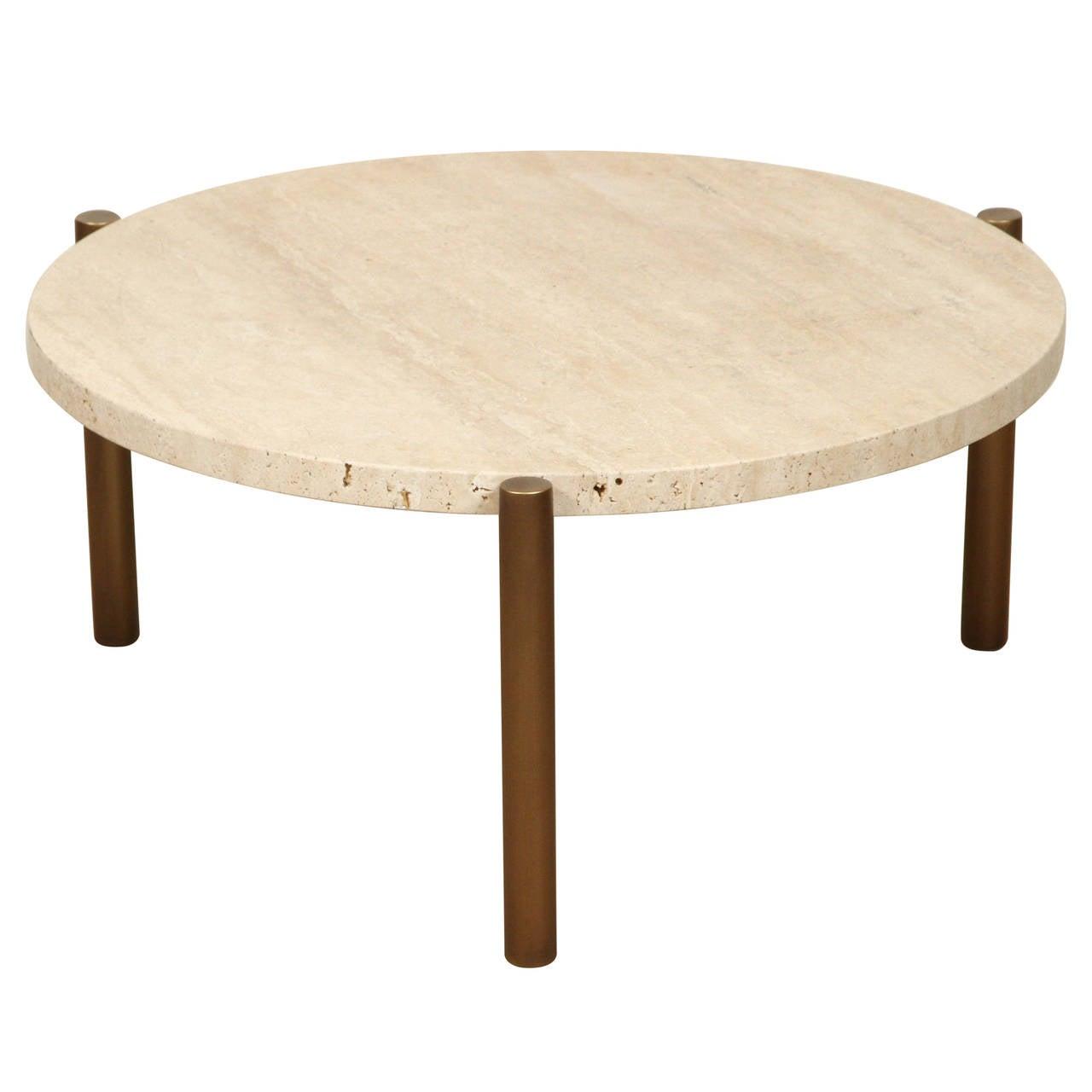 Ten10 Travertine Side Table, 2015