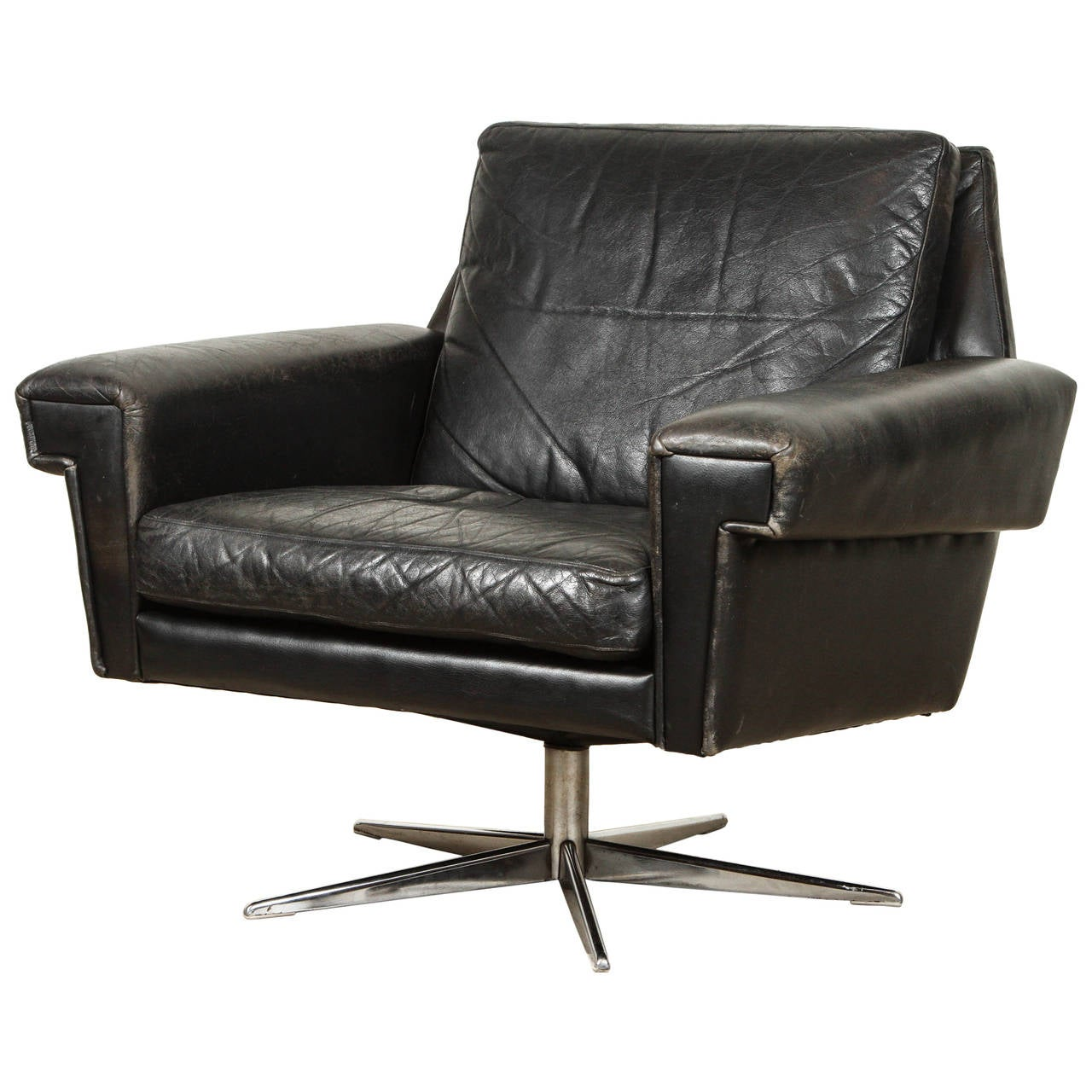 this danish midcentury leather swivel chair is no longer available