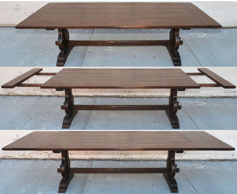 Expandable Dining Table In Vintage Walnut For Sale At 1stdibs