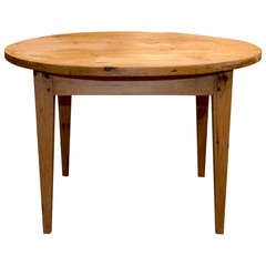 Round Farm Table in Vintage Pine, Custom Made by Petersen Antiques
