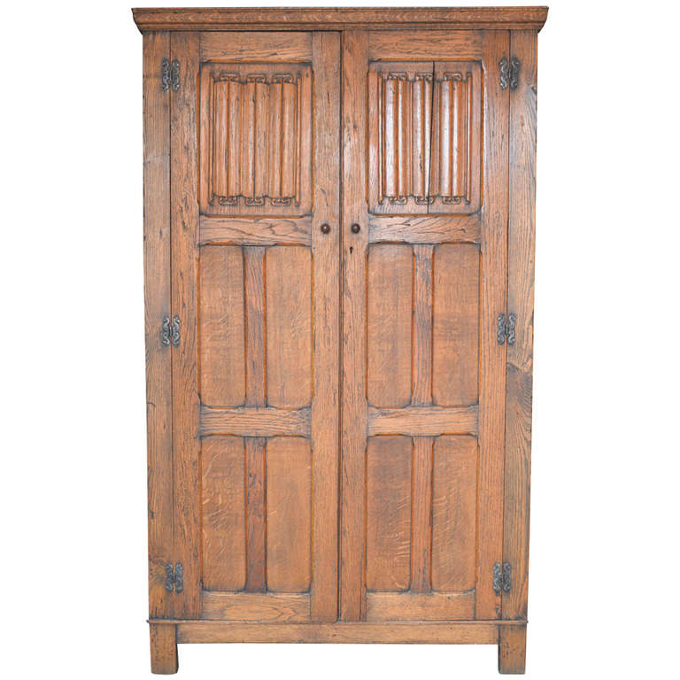 arts and crafts armoire in oak at 1stdibs
