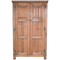 Arts and Crafts Armoire in Oak