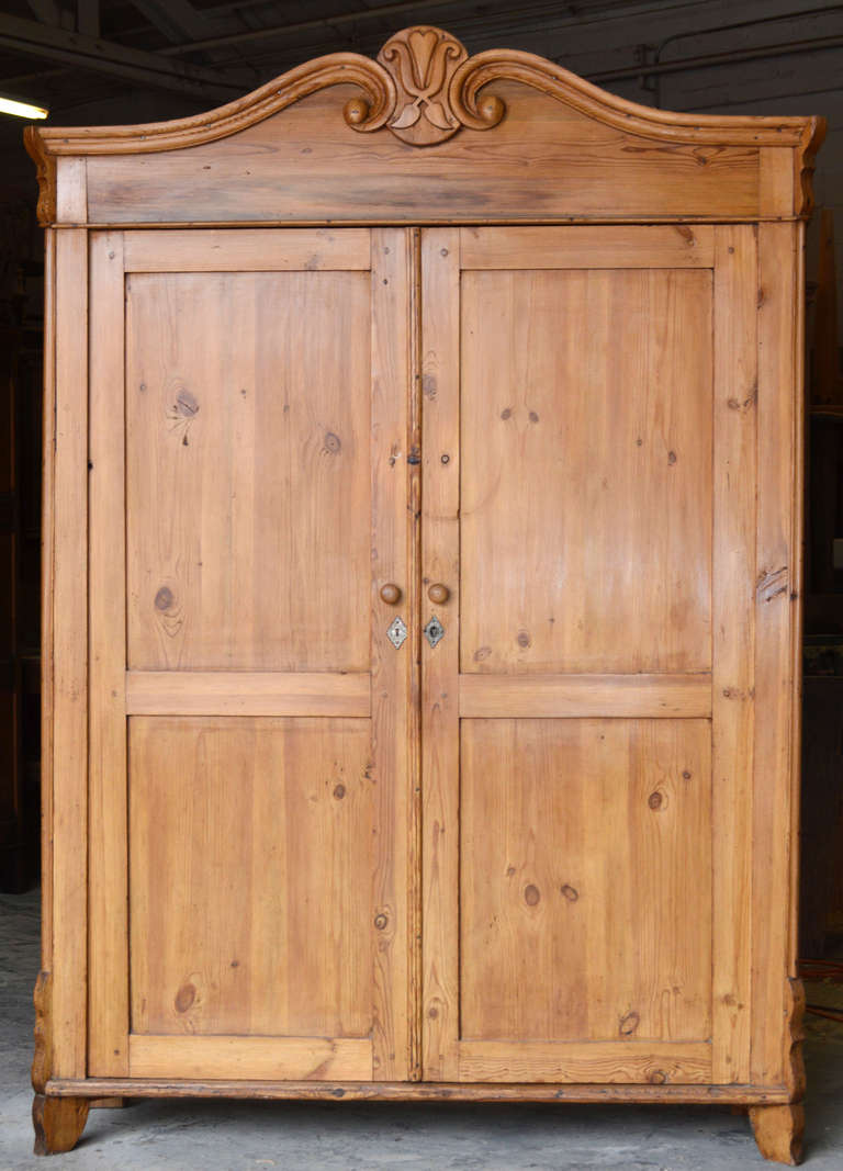 wide and shallow antique baltic armoire at 1stdibs. Black Bedroom Furniture Sets. Home Design Ideas