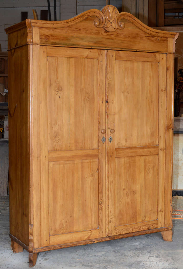 Wide And Shallow Antique Baltic Armoire For Sale At 1stdibs