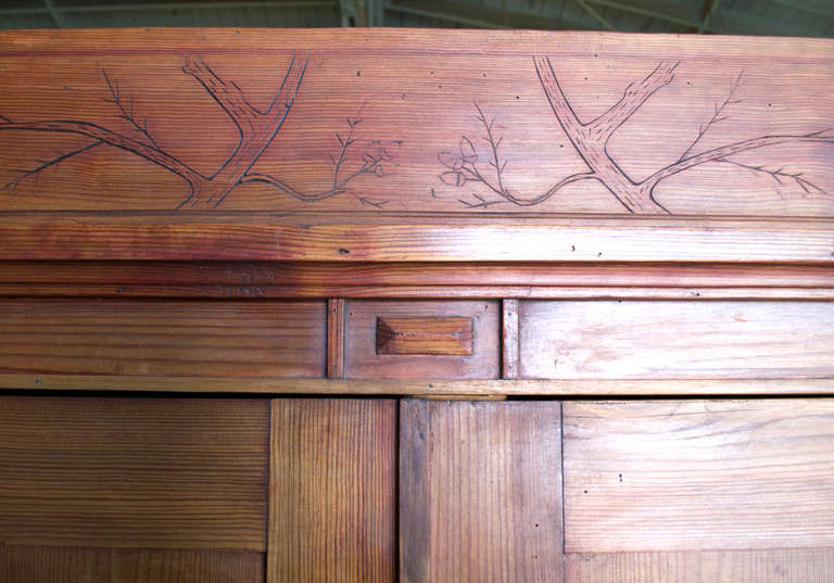 Art Nouveau Armoire with Spacious Drawer 3