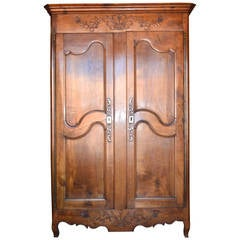 Louis XV Period Armoire in Cherrywood