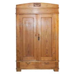 Merveilleux Art Nouveau Armoire With Two Drawers