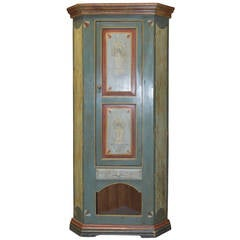 Painted Corner Cabinet