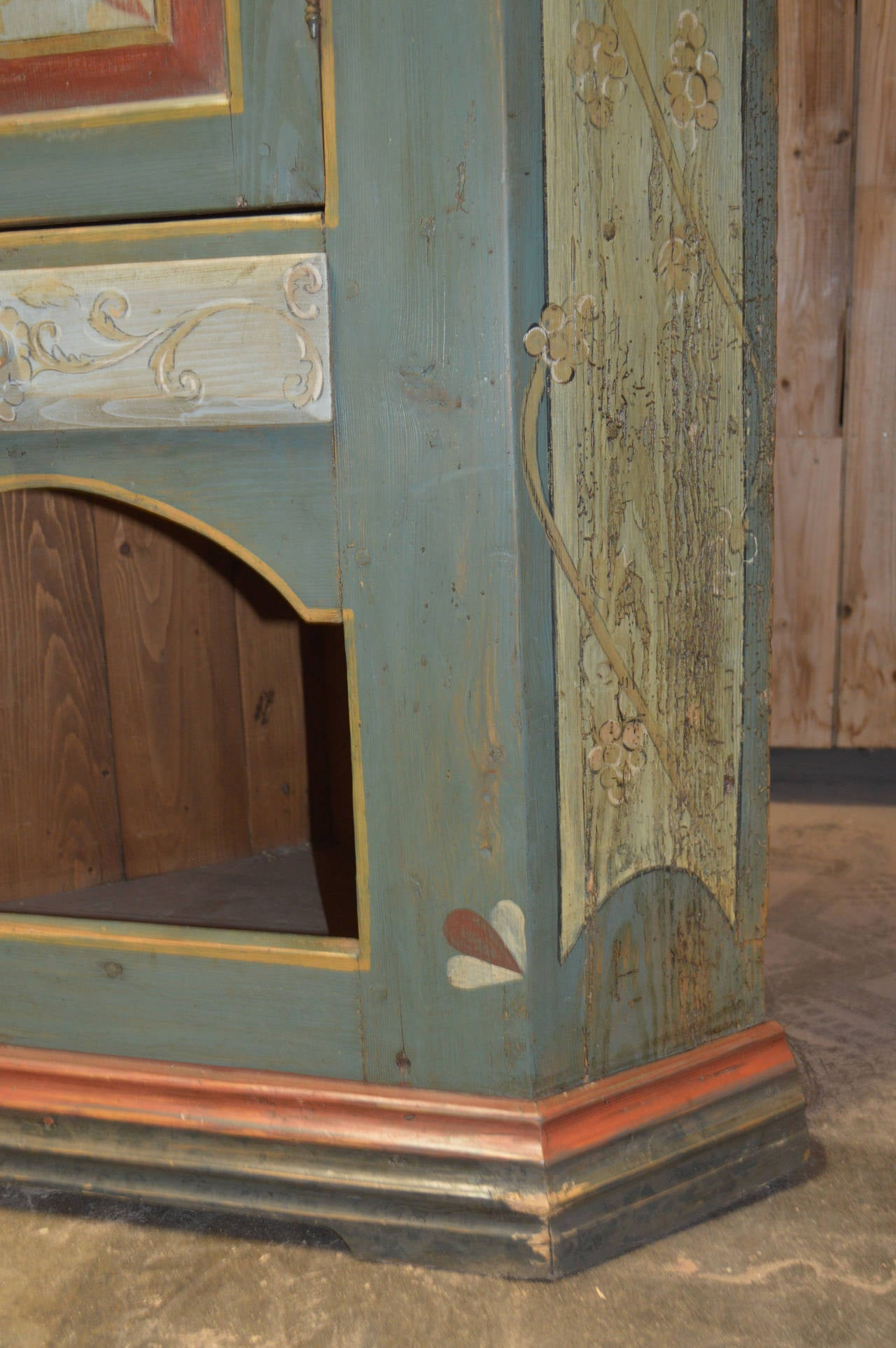Painted Corner Cabinet For Sale 1