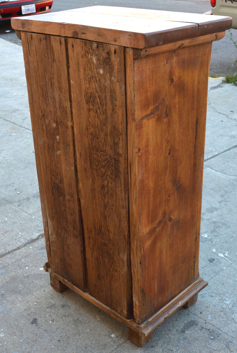 Small Skinny Cupboard 19th Century Primitive At 1stdibs