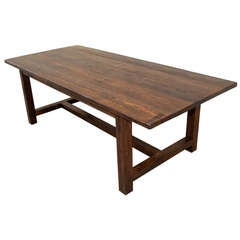 Library Table Dining Table Made From Reclaimed Oak For