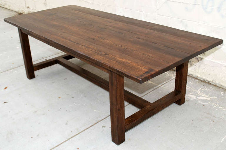vintage pine harvest table for sale at 1stdibs