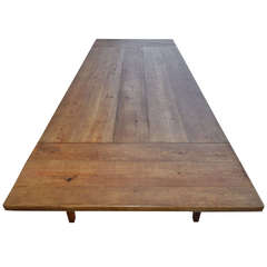 Expandable Harvest Table in Vintage Heart Pine, Custom Made by Petersen Antiques