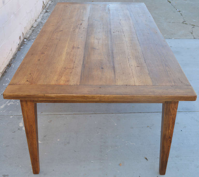 Vintage Pine Harvest Table With Extensions At 1stdibs