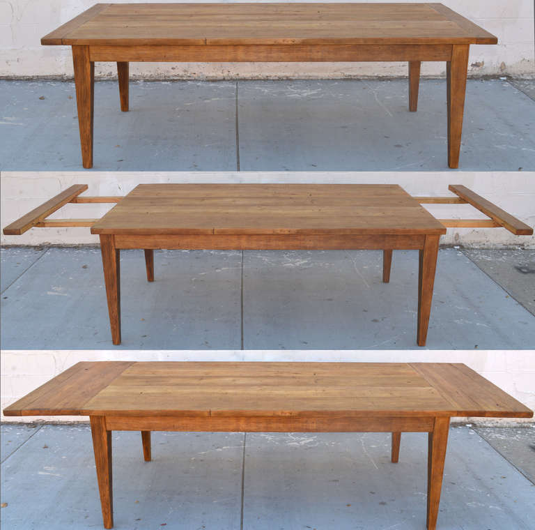 Harvest Dining Room Table: Custom Harvest Table With Extensions Made From Vintage