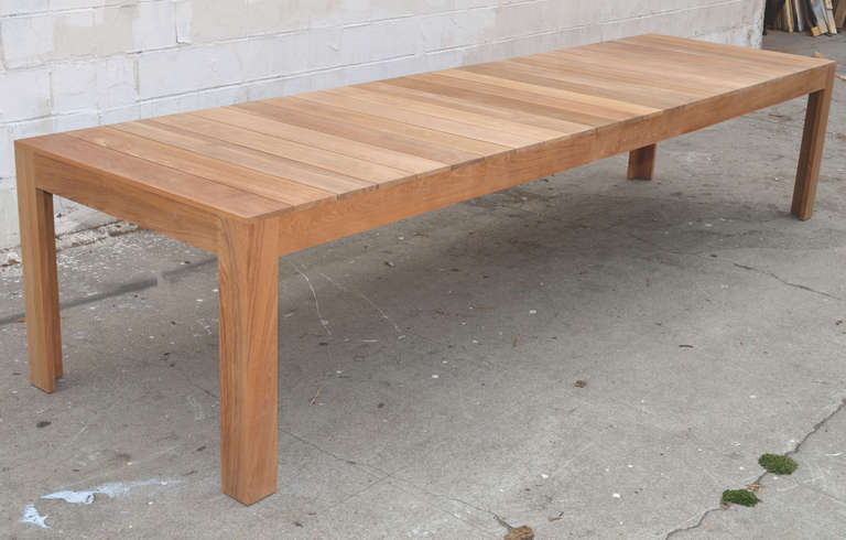 Custom Outdoor Dining Table In Teak Expandable For Sale At 1stdibs
