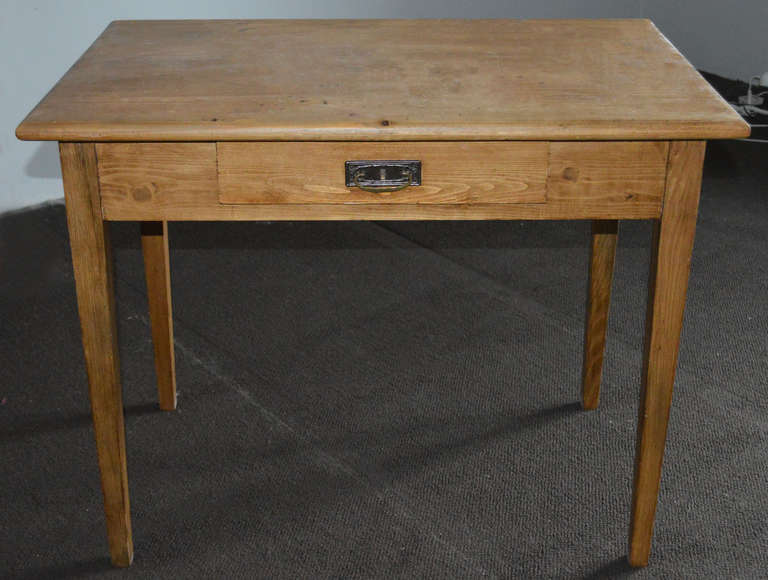 Farm table with a single drawer. - Small Antique Desk Or Farm Table At 1stdibs