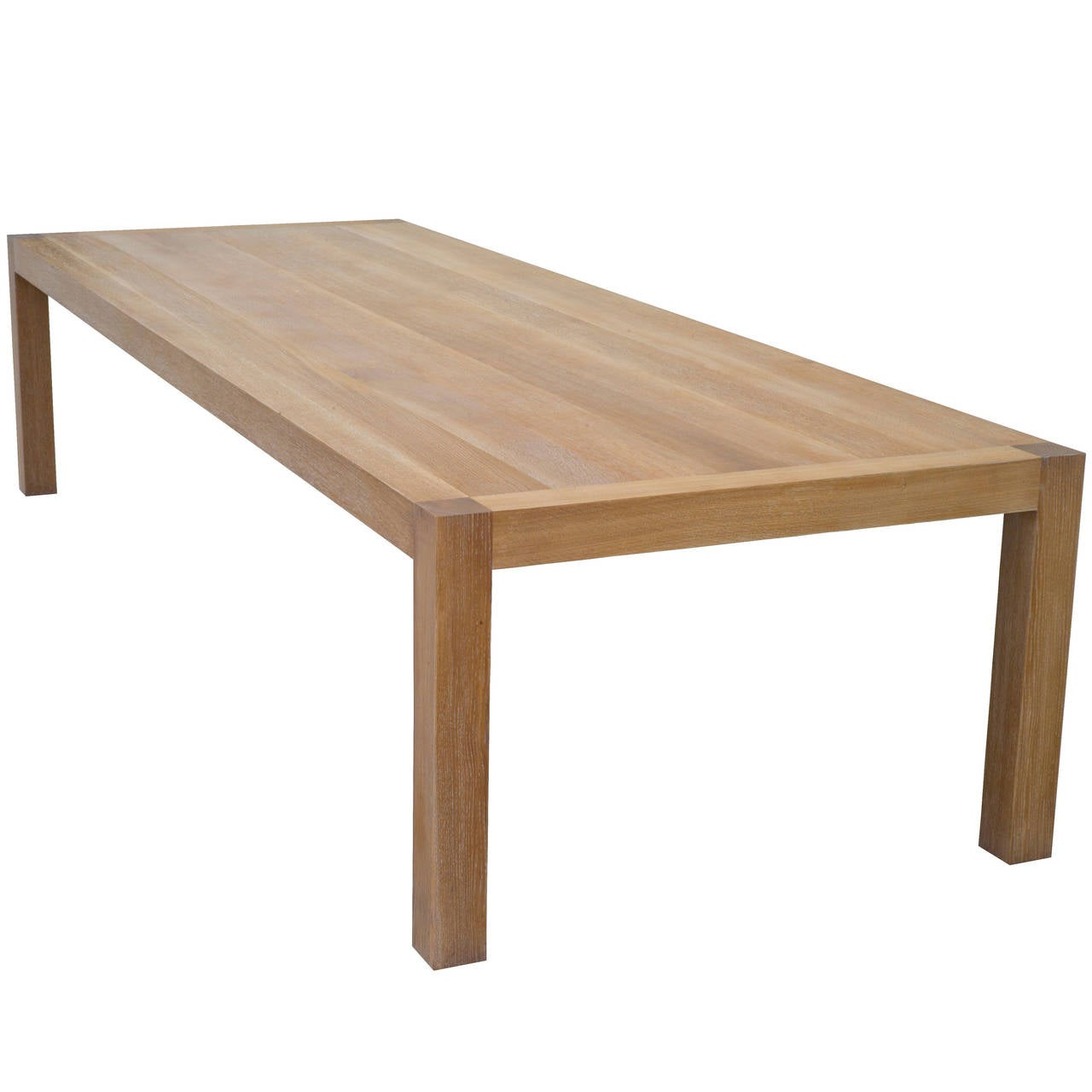 Parsons table with classic limed oak finish for sale at for Oak dining room table