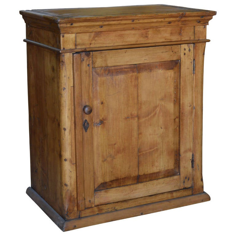 Antique Floor Cabinet Or Wall Hanging Cabinet For Sale