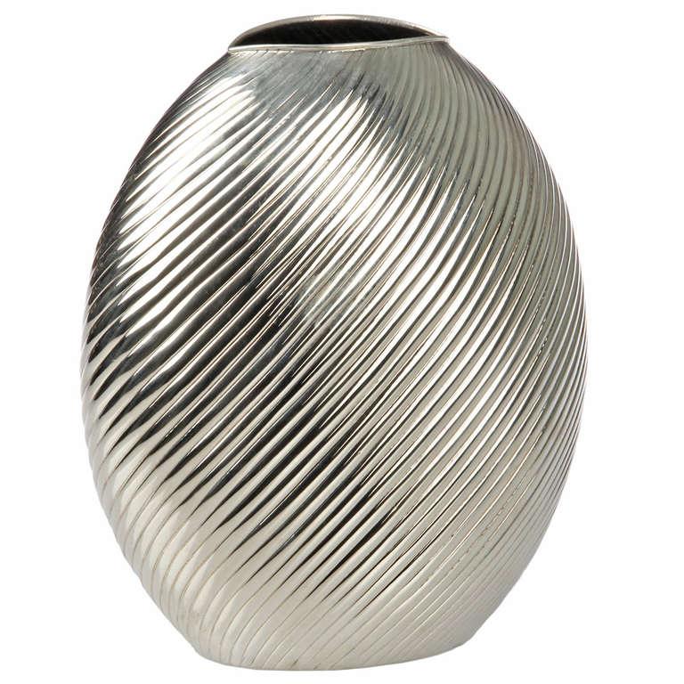 modernist sterling silver vase at 1stdibs