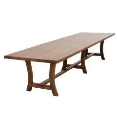 Custom Walnut Dining Table. Reclaimed Wood