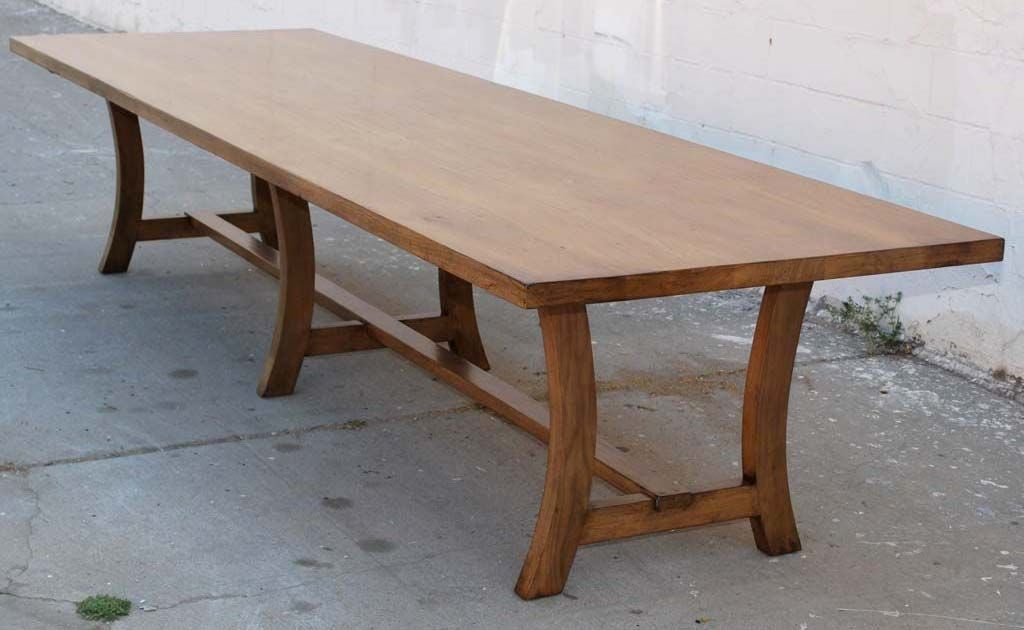 Custom walnut dining table reclaimed wood for sale at 1stdibs