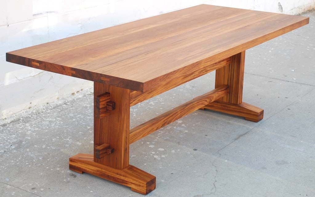 Indoor outdoor dining table in solid teak at 1stdibs for Outdoor teak dining table