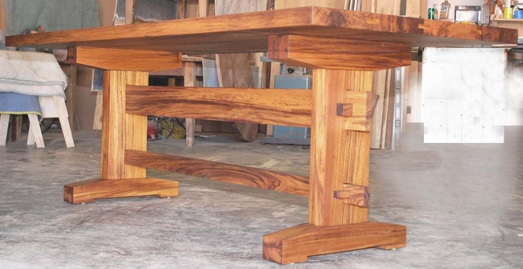 indoor or outdoor dining table in solid teak can be custom ordered