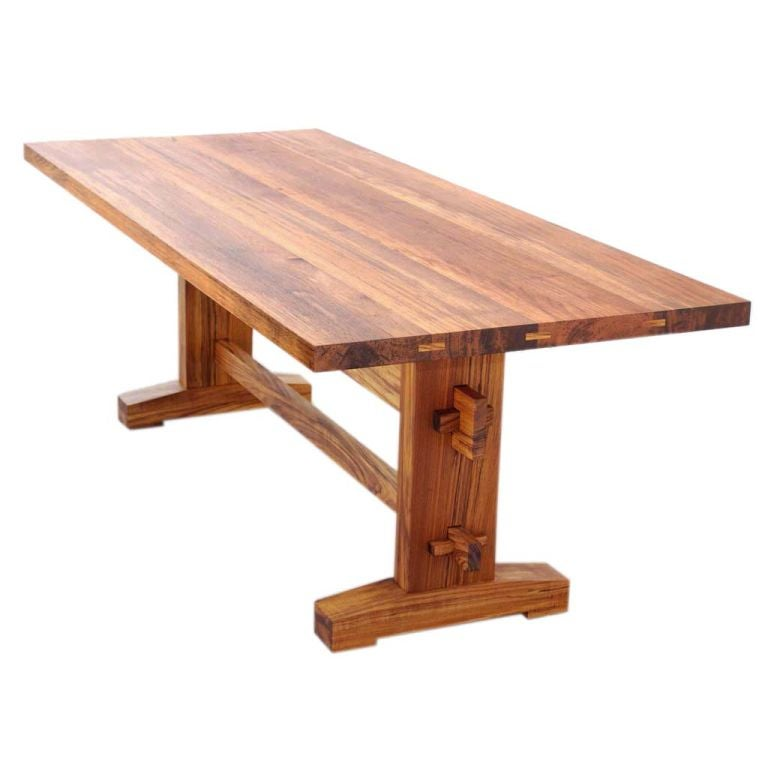 Indoor or Outdoor Dining Table in Solid Teak, Custom Made by Petersen Antiques