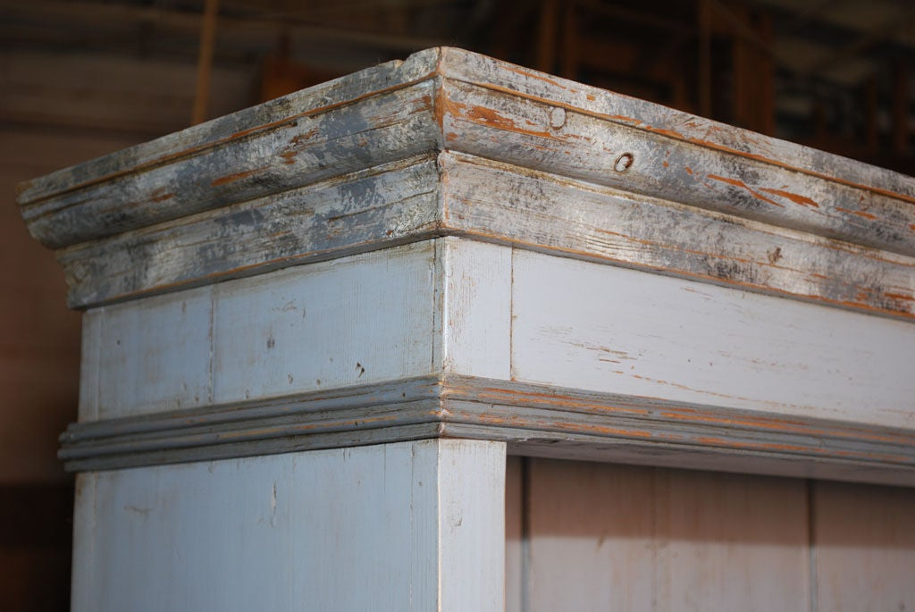 Baltic Buffet or Hutch Painted Gustavian Gray 4