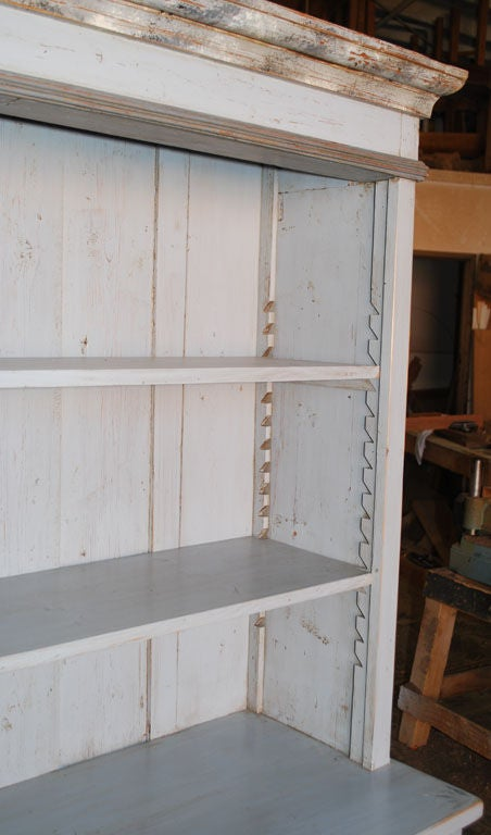 Baltic Buffet or Hutch Painted Gustavian Gray For Sale 1