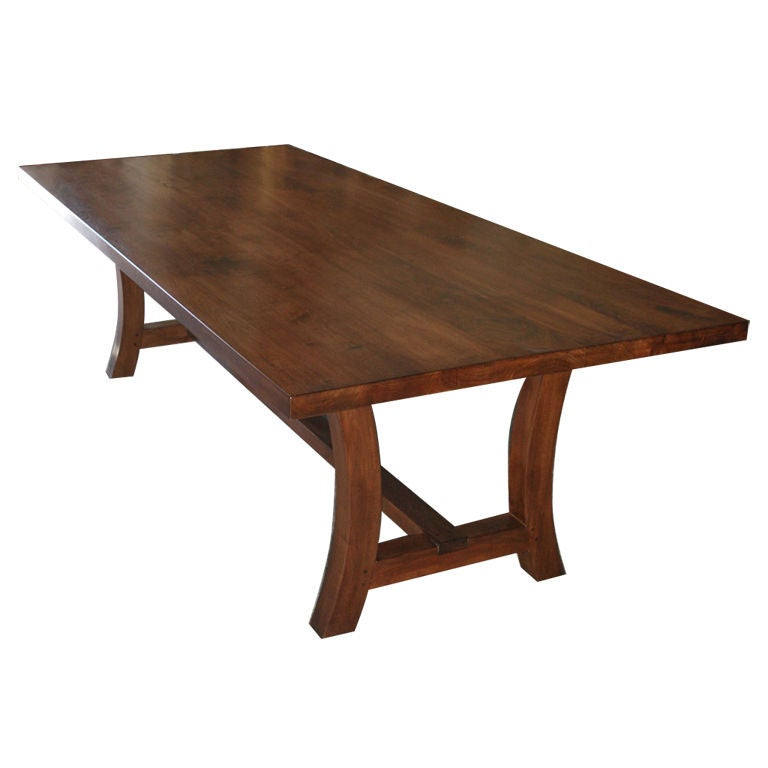 Walnut Dining Table, Built to Order by Petersen Antiques