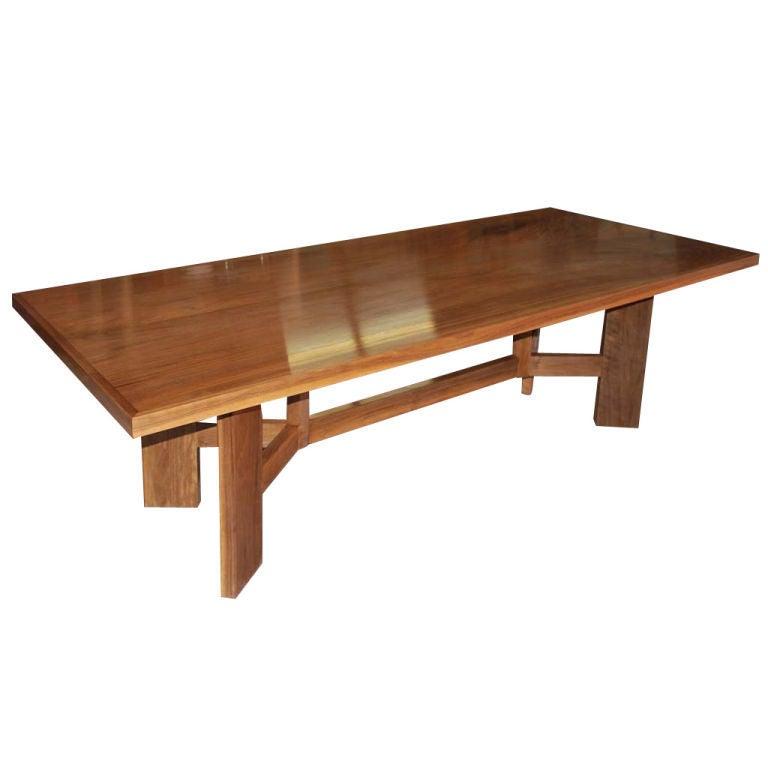 vintage black walnut dining table at 1stdibs
