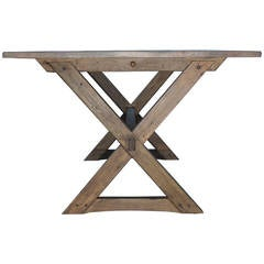 Vintage Pine Trestle Table