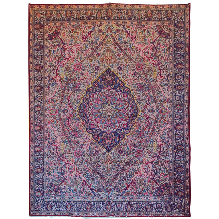 Antique Kerman Lavar Carpet For Sale At 1stdibs