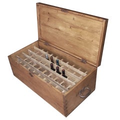Portable Wine Cellar or Antique Chest, Holds Fifty Bottles of Wine
