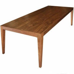 Parsons Table in Solid Bookmatched Walnut, Made to Order by Petersen Antiques