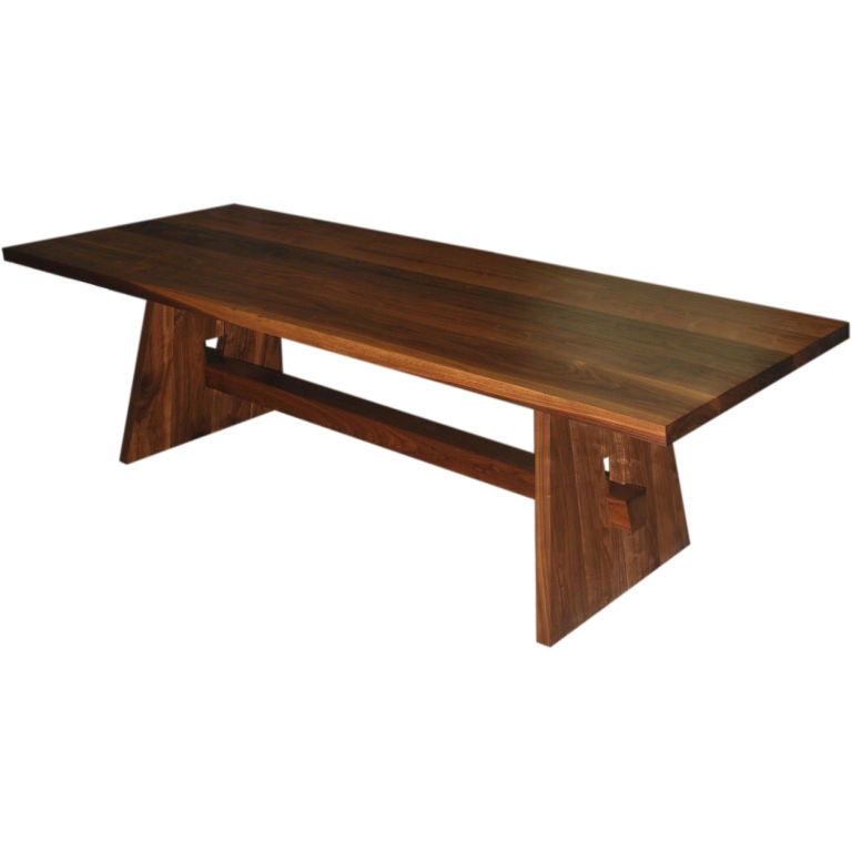 Custom Dining Table in Black Walnut, Built to Order by Petersen Antiques